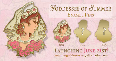 Lady of June Enamel Pin Reveal
