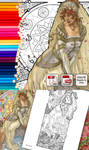 FREE Coloring Page - Lady of June by AngelaSasser