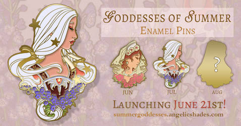 Lady of July Enamel Pin Reveal by AngelaSasser