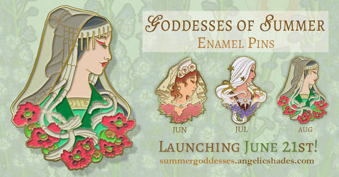 Lady of August Enamel Pin Reveal by AngelaSasser