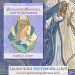 Enamel Pin Design - Lady of September by AngelaSasser