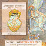 Enamel Pin Design - Lady of October by AngelaSasser