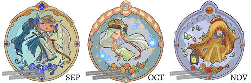 Little Gem Goddesses of Autumn