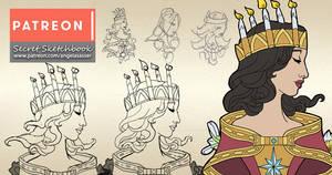 Secret Sketchbook - Goddesses of Winter Designs
