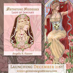 Enamel Pin Concept - Lady of January by AngelaSasser