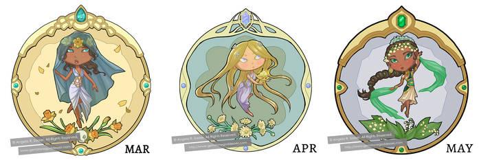 Little Gem Goddesses of Spring