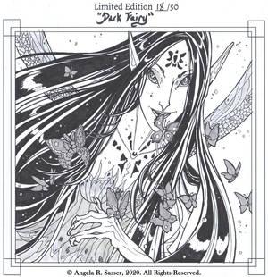 Book Sketch - Dark Fairy