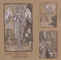 Woven Path Tarot - Temperance Thumbnail Sketches