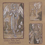 Woven Path Tarot - Temperance Thumbnail Sketches by AngelaSasser