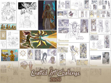 Exalted Art Challenge 2020 Collection