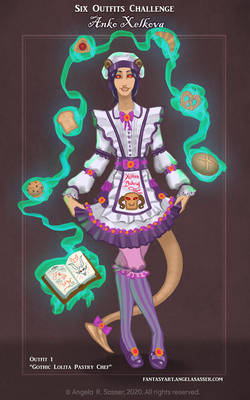 Anko's 6 Outfits Challenge - Lolita Pastry Chef