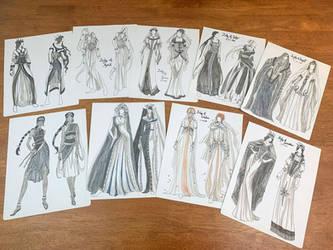Birthstone Goddesses Fashion Concept Illustrations