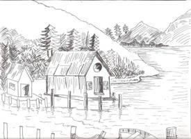 Scenic Pen Art by sapphirepsg