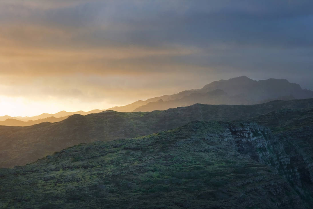 Dusk on Mountains Stock by leeorr-stock