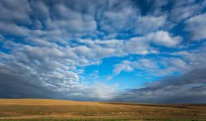 Cloudy Blue Sky Stock