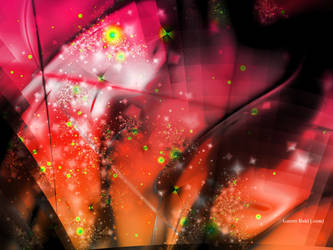 Pink Orange Abstract by Garret-B