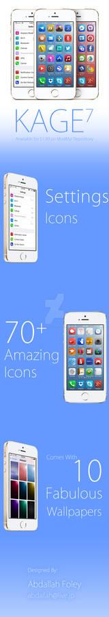 KAGE7 iOS Theme Preview