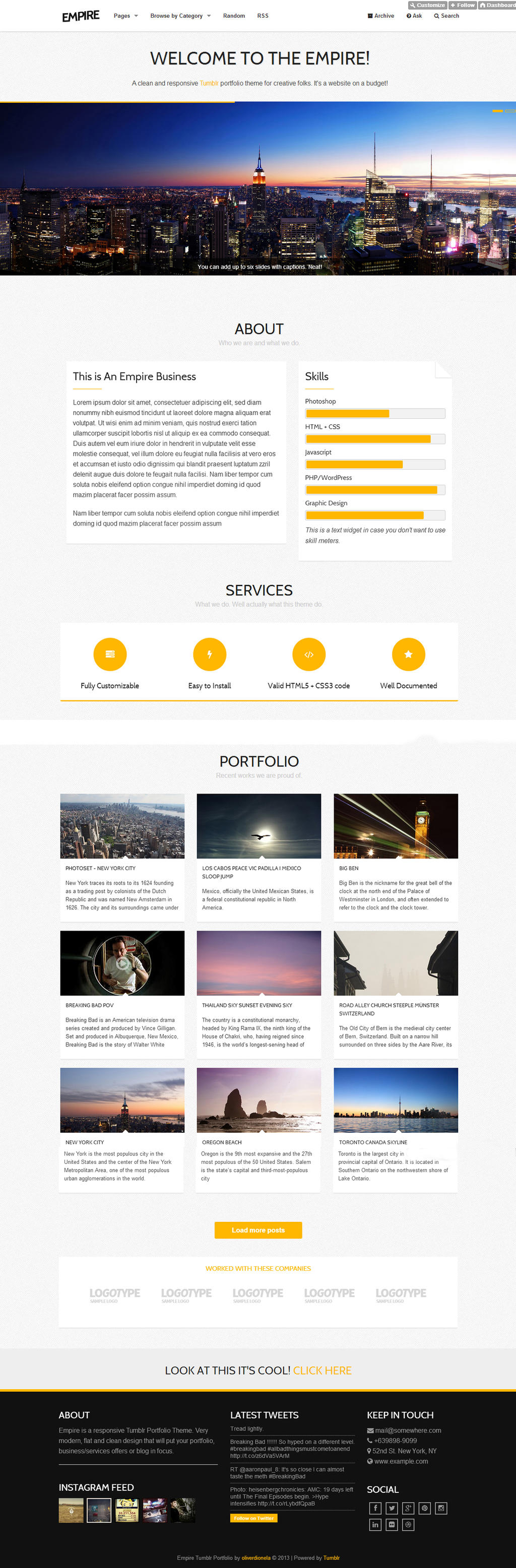 Empire - Responsive Tumblr Portfolio Theme by odionela