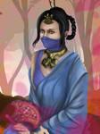 Kitana in Saree by AdNoctvm87