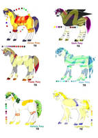 Adoptable Ponies  by roof8910