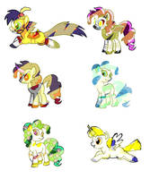 Adoptable Ponies Chibi form  by roof8910