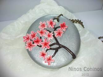 Cherry blossom pendant by NinosConinos