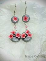 Cherry blossom earrings by NinosConinos