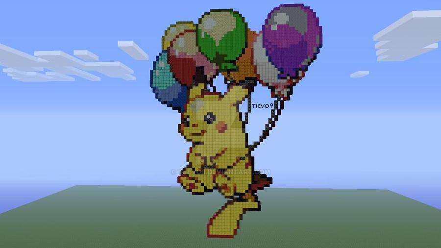 Balloon Pikachu on Minecraft Xbox 360 Edition by tjevo9