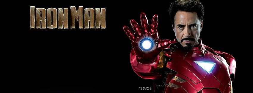 Simple Iron Man Facebook Cover Photo by tjevo9