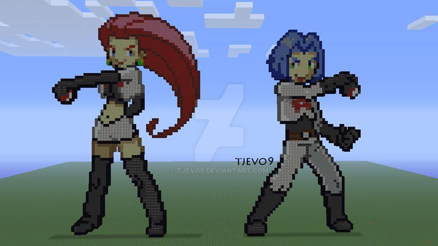Jessie and James on Minecraft: Xbox 360 Edition by tjevo9