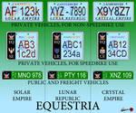 Equestria License Plates