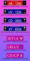 Equestria Government License Plates