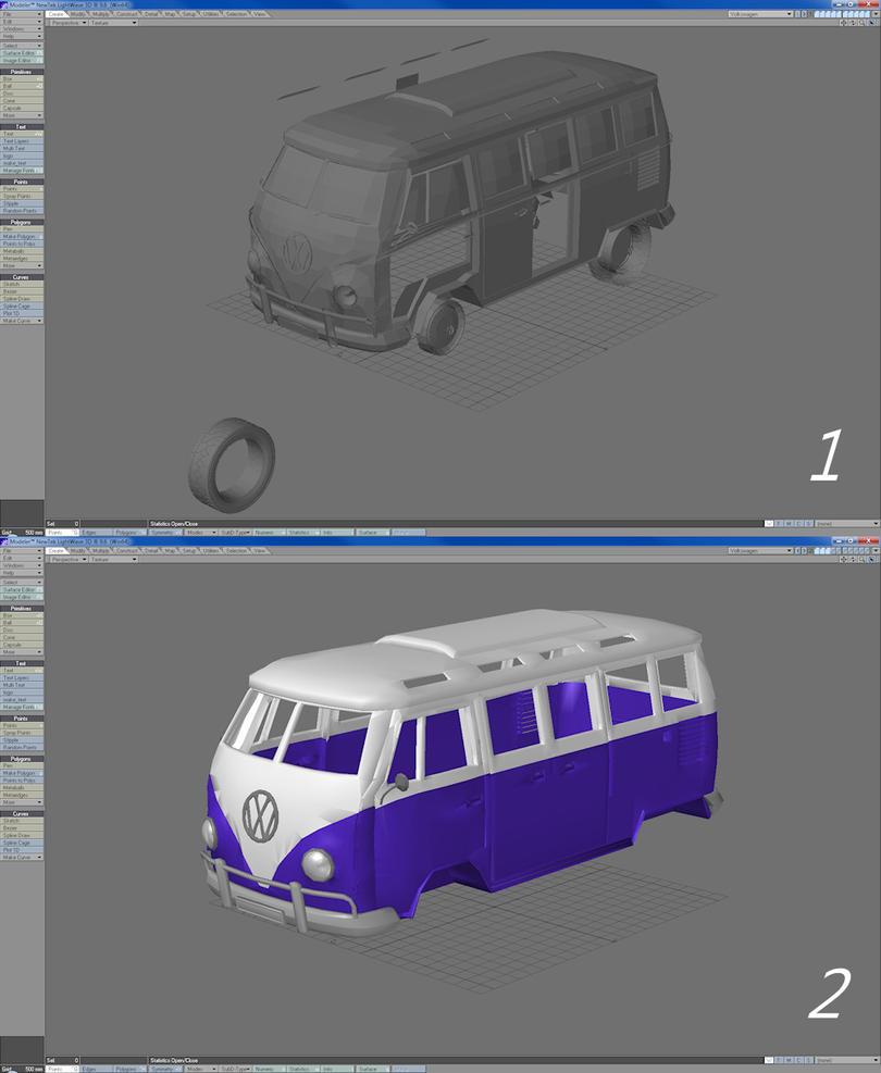 MMD WIP VW Van by *MCMXC2 on