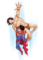 Superman vs. Korak by jen-and-kris, commissioned by korak225