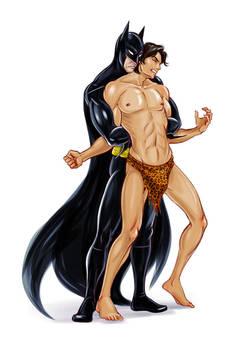 Batman vs. Korak 2 by jen-and-kris, commissioned