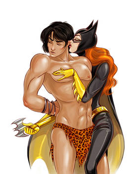 Korak and Batgirl 2 by jen-and-kris, commissioned