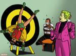 Robin, Joker, and Bruce Wayne 2 by bondageincomics