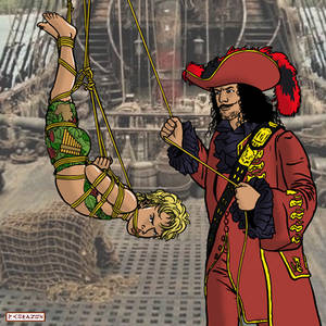 Peter Pan on the Jolly Rogers by bondageincomics