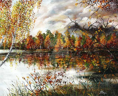 Autumn river by JoannaPartyka