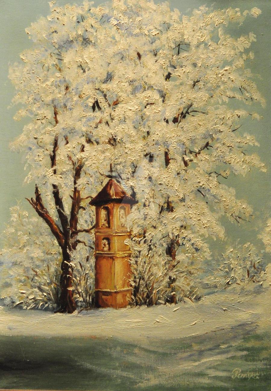 Kapliczka zimowa by JoannaPartyka