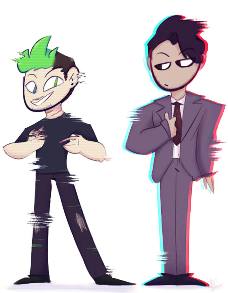 Darkiplier And Antisepticeye~ by power5pro