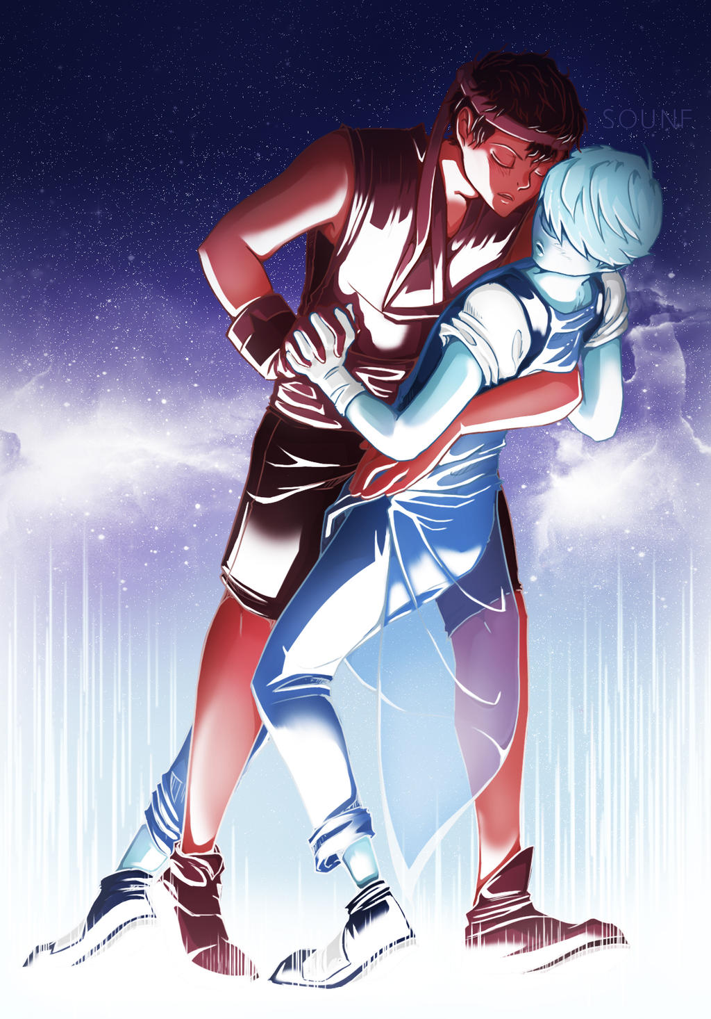 Genderbend Ruby X Sapphire By Sounf On Deviantart