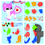 Charmfox OPEN species Reference sheet + basic lore by Paradign9