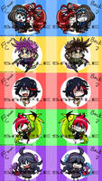 merg merch- Acrylic Charm Batch #1