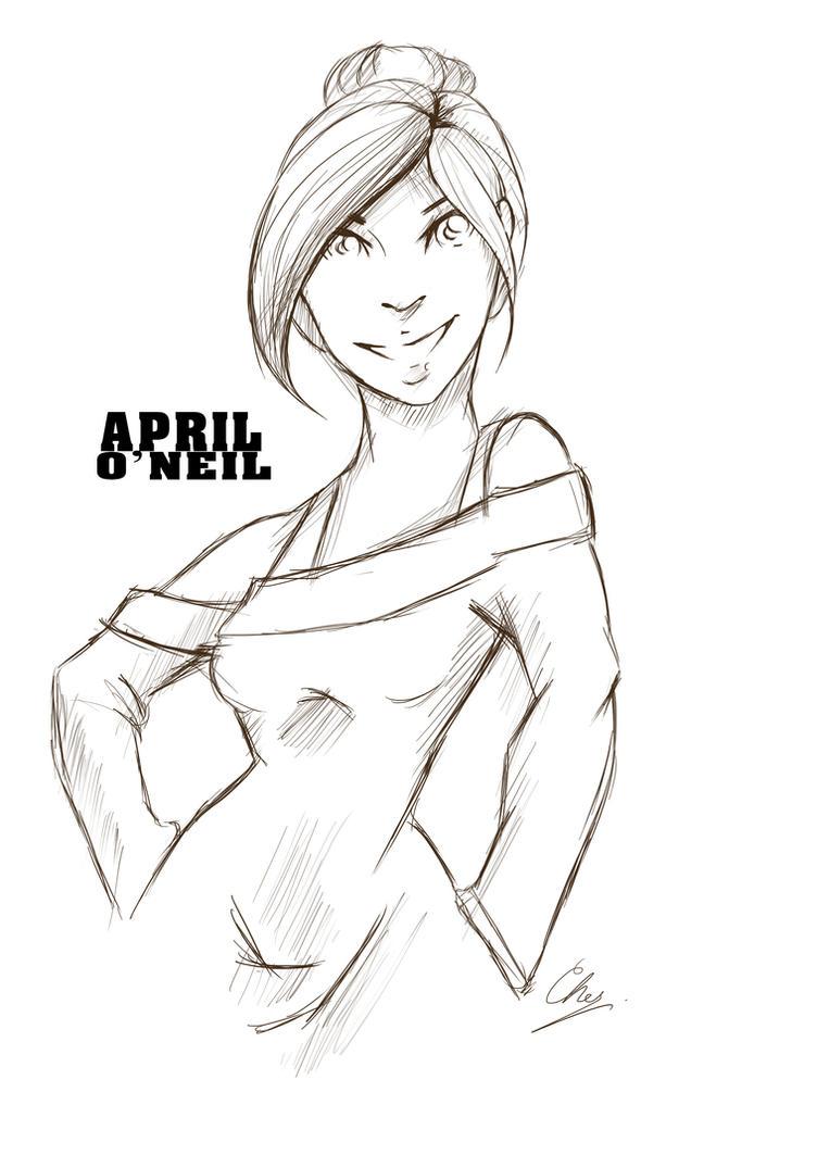 April O'neil by MissTurtleLittle