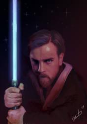 Obi Wan Digital Painting by LEADZ