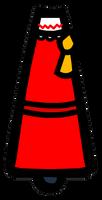Reimu side view (no head, no arms)