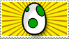 Green Yoshi Egg Stamp by deadspaceheart