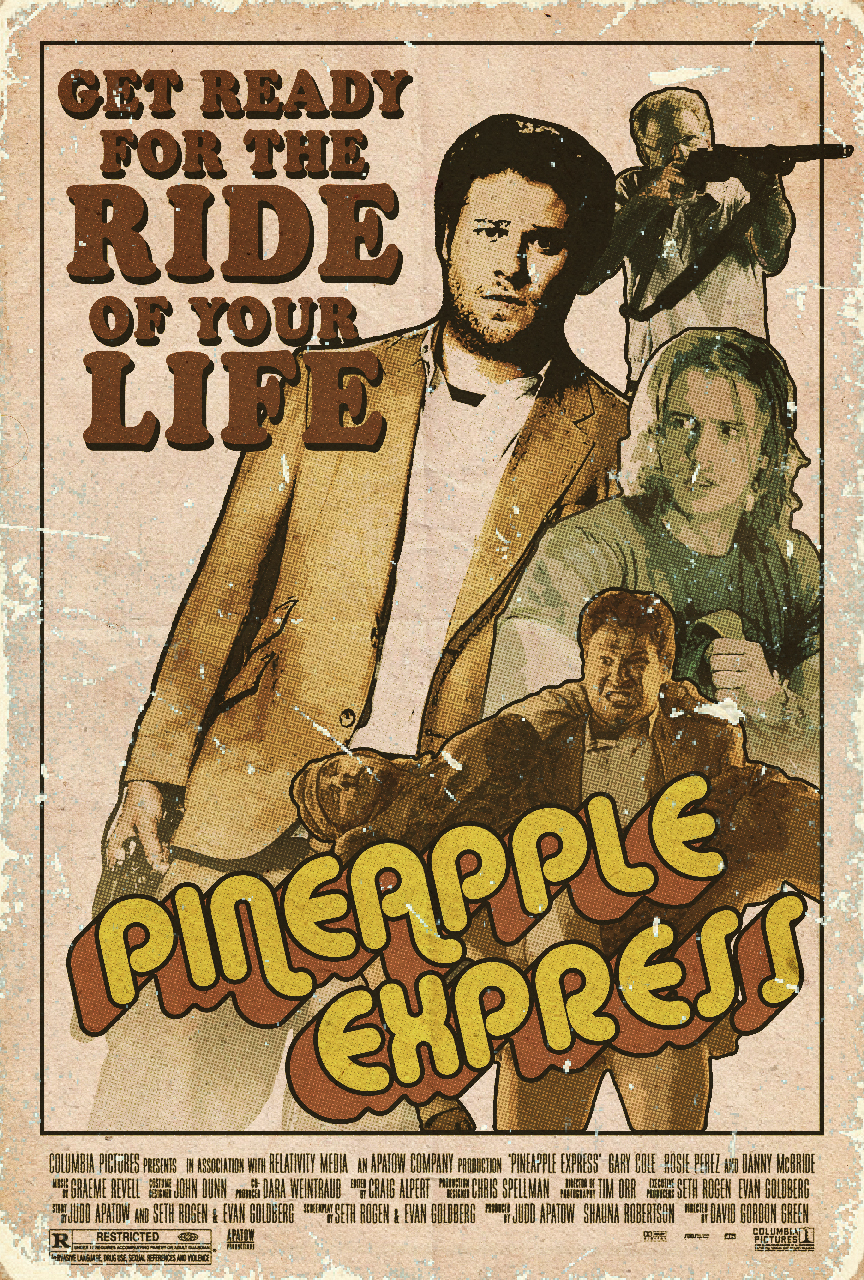 pineapple express retro poster by clauderains1979 on