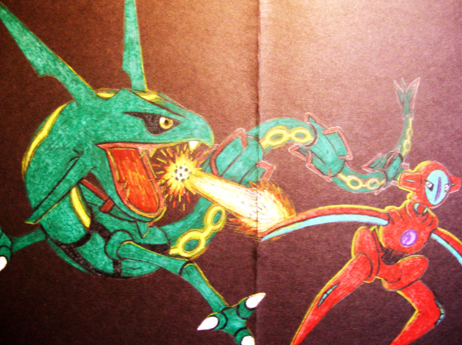 rayquaza vs deoxys by toaantan on deviantart